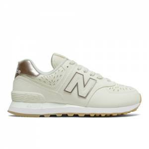 New Balance 574 Women's Lifestyle Shoes - Off White (WL574SLP)