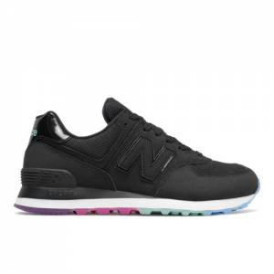 New Balance 574 Women's Running Classics Shoes - Black (WL574SOO)