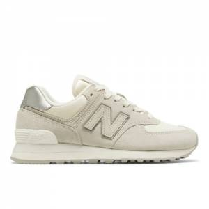 New Balance Sateen Tab 574 Women's Shoes - Off White (WL574SSS)