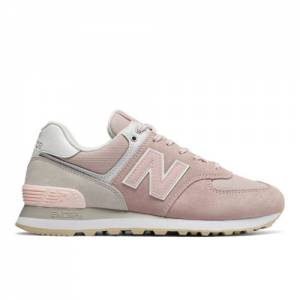 New Balance 574 Women's Shoes - Pink (WL574TAC)