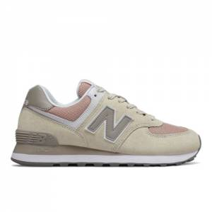New Balance 574 Women's Shoes - Beige (WL574WNA)