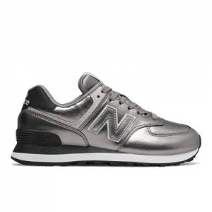 New Balance 574 Women's Lifestyle Shoes - Silver (WL574WNE)