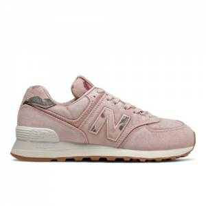 New Balance 574 Stone Wash Women's Running Classics Shoes - Pink (WL574WOR)