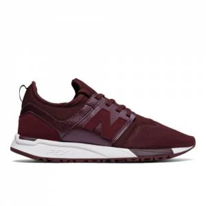 New Balance 247 Classic Women's Sport Style Shoes - Chocolate Cherry / White (WRL247HK)