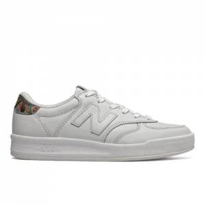 New Balance 300 Leather Women's Court Classics Tennis Shoes - White (WRT300PB)