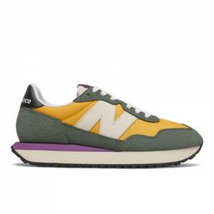 New Balance 237 Women's Lifestyle Shoes - Gold / Green (WS237SB)