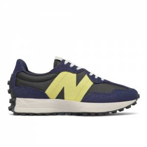 New Balance 327 Women's Lifestyle Shoes - Black / Yellow (WS327CC)