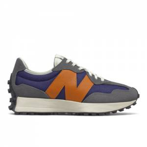New Balance 327 Women's Lifestyle Shoes - Grey / Navy (WS327WR1)