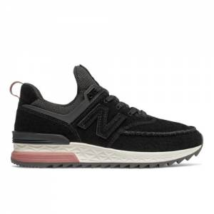 New Balance 574 Sport Women's Shoes - Black (WS574PSB)