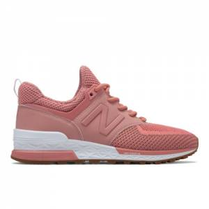 New Balance 574 Sport Women's Sport Style Shoes - Peach (WS574WC)