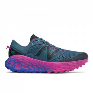 New Balance Fresh Foam More Trail v1 Women's Trail Running Shoes - Blue / Pink (WTMORBP)