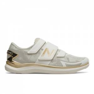 New Balance NBCycle WX09 Geo Metallic Women's Cycling Shoes - White / Gold (WX09SH)