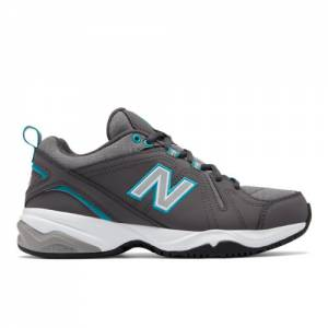 New Balance 608v4 Women's Everyday Trainers Shoes - Grey / Teal (WX608HH4)