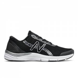 New Balance 711v3 Graphic Trainer Women's Cross-Training Shoes - Black / Silver (WX711BG3)