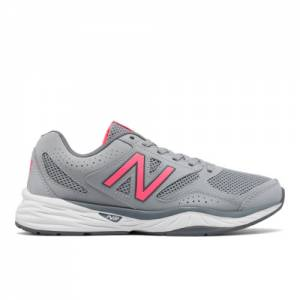 sports shoes ad75a 2f372 New Balance 824 Trainer Women s Everyday Trainers Shoes - Grey   Pink  (WX824GP1)