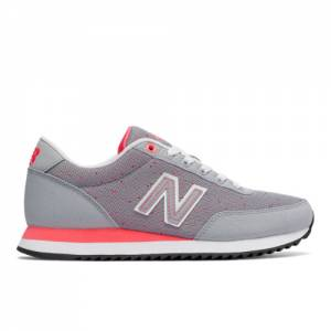 New Balance 501 Heritage Women's Running Classics Sneakers Shoes - Silver Grey / Red (WZ501STA)