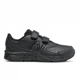 New Balance 680v6 Uniform Kids Running Shoes - Black (YU680BB)