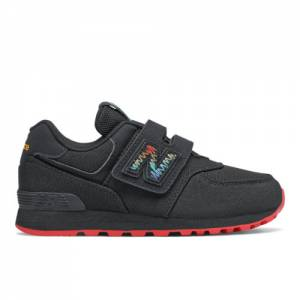 New Balance 574 Scribble Pack Kids Lifestyle Shoes - Black (YV574SBK)