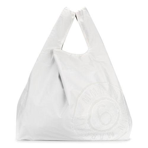 MM6 Maison Margiela White Monoprix Tote Bag