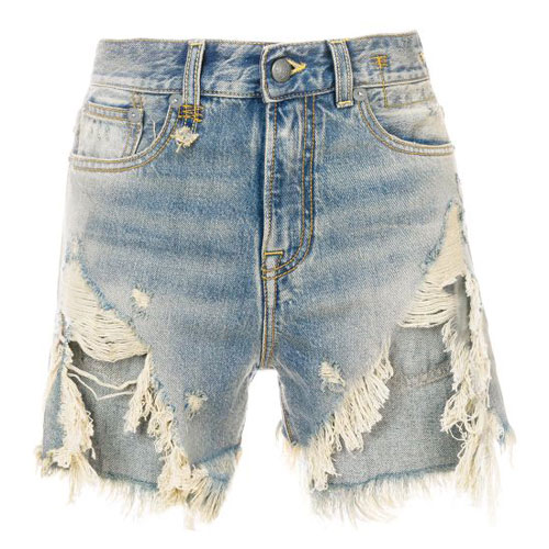 "R13 Denim Shorts ""Distressed Blue"""