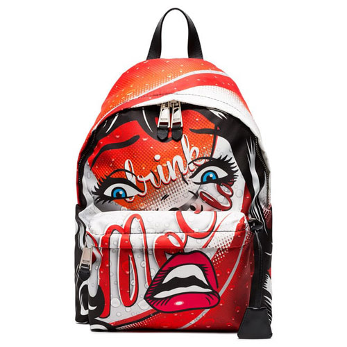 """Moschino Backpack """"Face"""" Capsule Collection"""