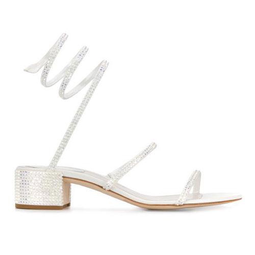 "René Caovilla Women's Sandals ""Crystal Embellished"""