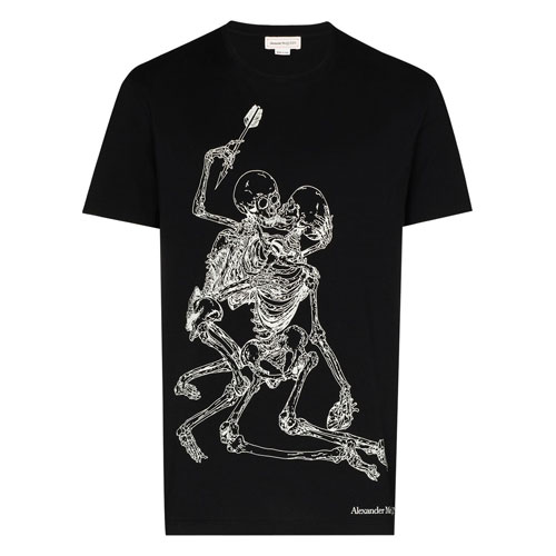 "Alexander McQueen T-Shirt ""Lovers Skeleton"""