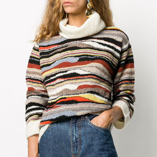"M Missoni Women's Sweater ""Abstract Stripes"""