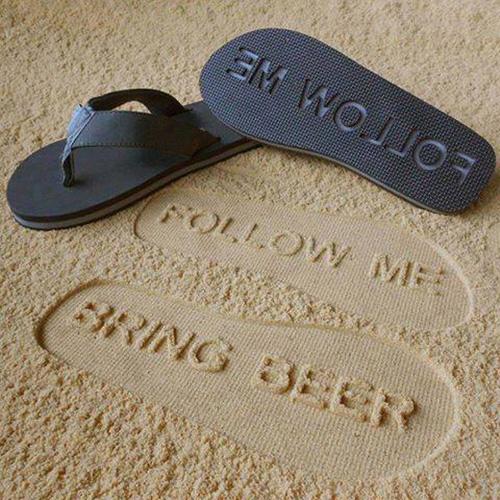FlipSidez Sand Imprint Flip Flops
