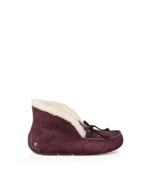 UGG Women's Alena Suede And Wool Slipper Moccasin