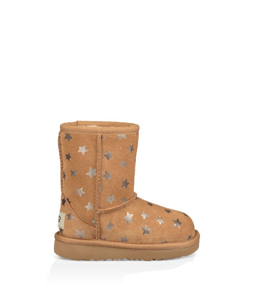 UGG Toddlers' Classic II Short Stars Boot Suede