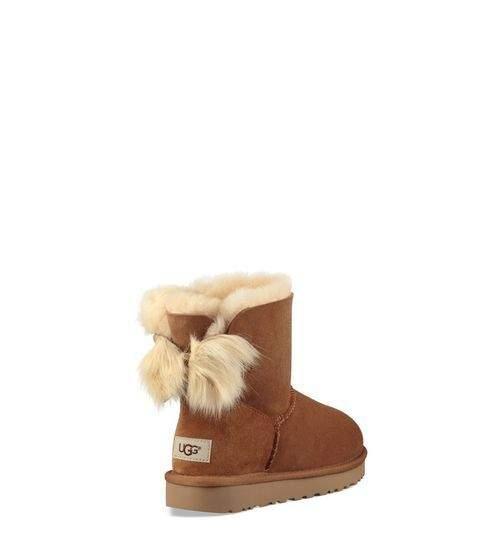 UGG Women's Classic Mini Fluff Bow Boot Sheepskin