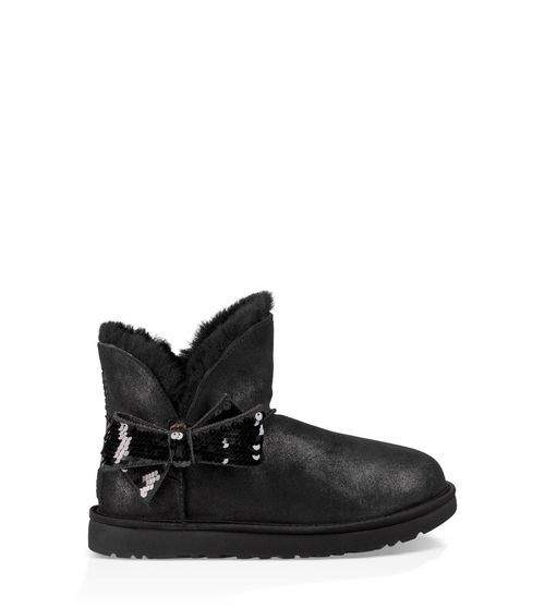 UGG Women's Mini Sequin Bow Boot Suede