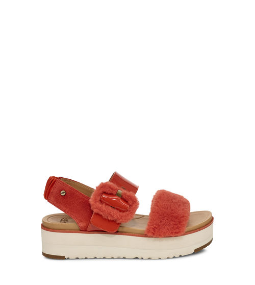 UGG Women's Le Fluff Sandal Leather