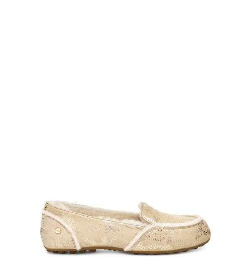 UGG Women's Hailey Metallic Snake Loafer Leather