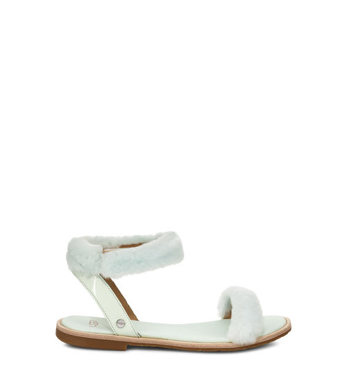 UGG Women's Fluff Springs Patent Sandal Sheepskin