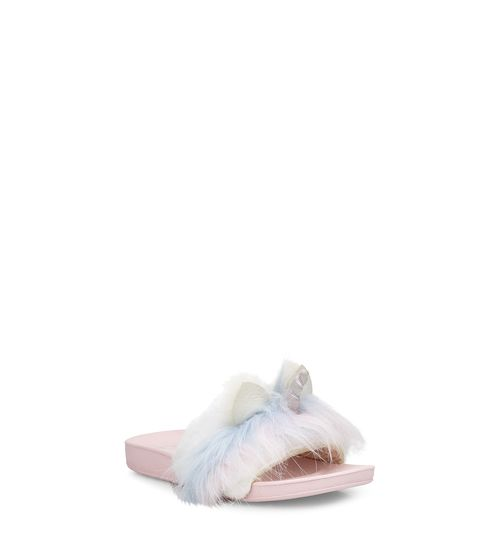 UGG Kids' Rainbow Unicorn Slide Faux-Fur