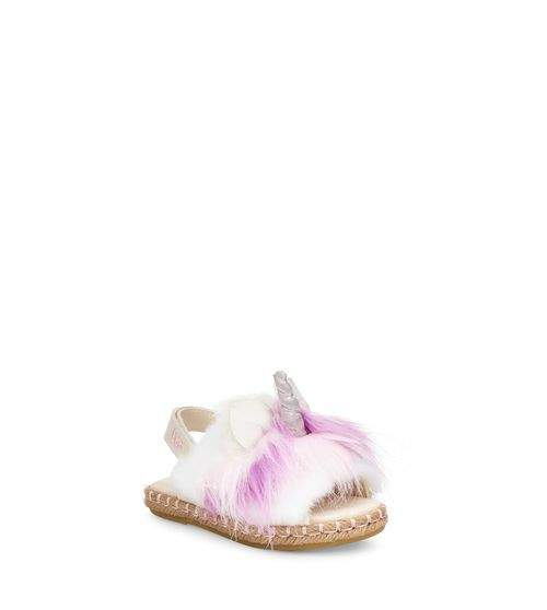 UGG Toddlers' Rainbow Unicorn Sandal Faux-Fur
