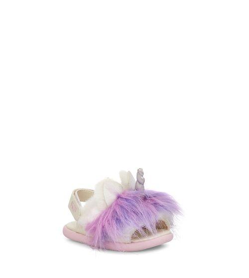 UGG Infants' Rainbow Unicorn Sandal Faux-Fur