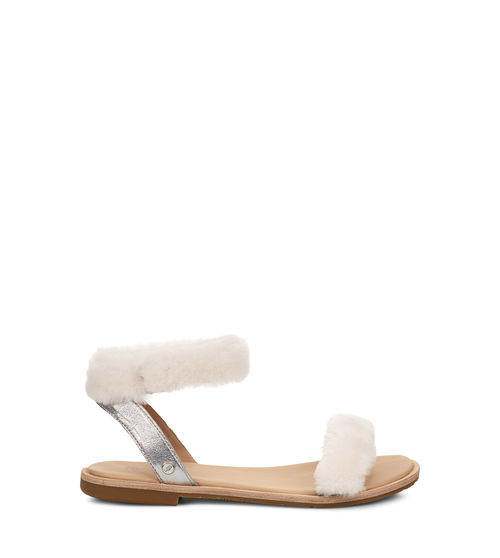 UGG Women's Fluff Springs Sandal Sheepskin