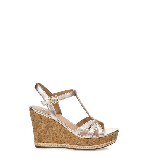 UGG Women's Melissa Metallic Wedge Leather