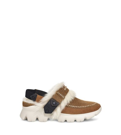 UGG Women's Fluff Punk Trainer Leather