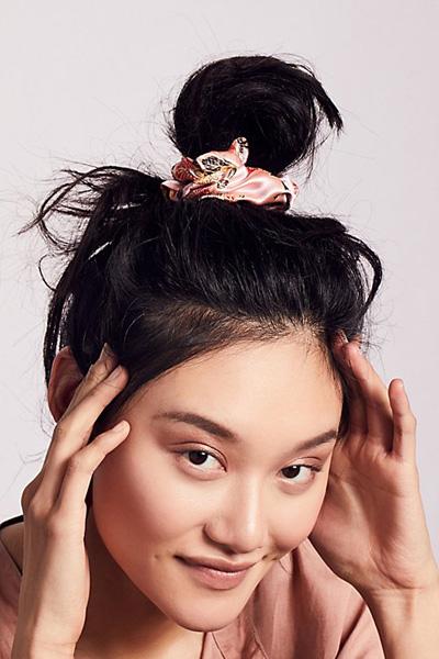 Free People Silk Brocade Hair Scrunchie