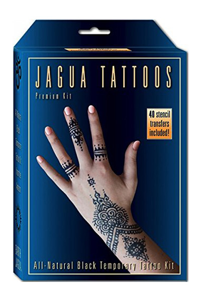 Earth Henna Organic Jagua Black Temporary Tattoo and Body Painting Premium Kit